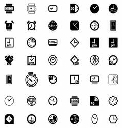 Set of Clock Icon Symbol vector image vector image