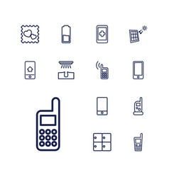 13 cell icons vector