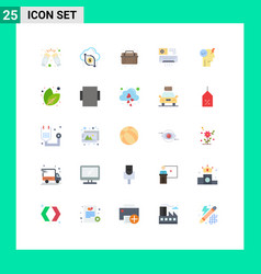 25 thematic flat colors and editable symbols vector