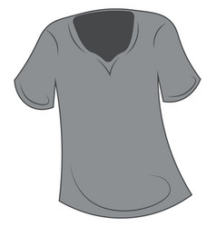 A round neck unisex t-shirt grey color is vector