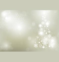 Abstract bokeh winter background vector