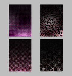 Abstract dot pattern background brochure template vector