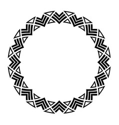 abstract round meander circular geometric vector image