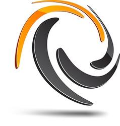 Abstract swirl symbol vector