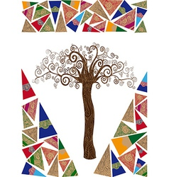 Art noveau tree idea vector image