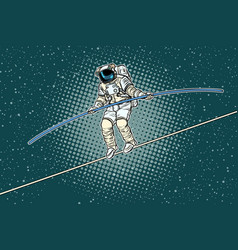 Astronaut tightrope walker the risks of a vector