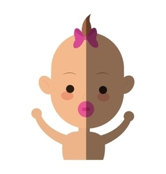 baby cartoon icon vector image