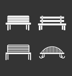 bench icon set grey vector image