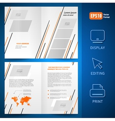 Booklet design template catalog brochure lines vector