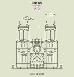 bristol cathedral in bristol vector image