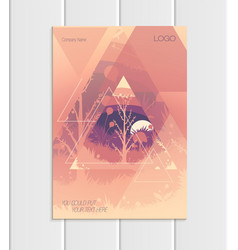 Brochure a5 or a4 format abstract triangles vector