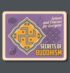 Buddhism religion cultural center buddhist school vector