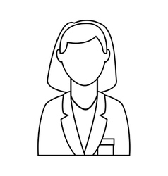 businesswoman avatar isolated icon design vector image