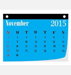 Calendar November 2015 vector image
