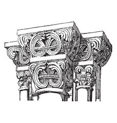 Capital from gernnrode vintage engraving vector