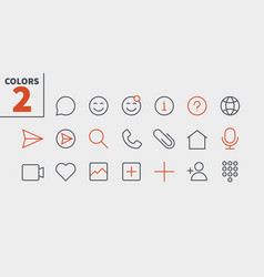 Chat ui pixel perfect well-crafted thin vector