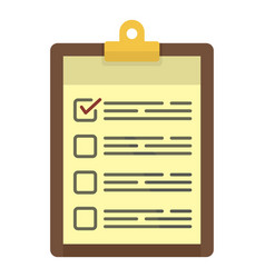checklist icon flat style vector image