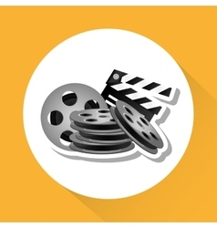 cinema graphic design vector image