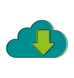 cloud storage download arrow icon image vector image vector image