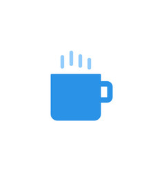 coffee cup icon blue monochrome color vector image