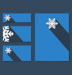 Collection christmas banners with snowflake vector