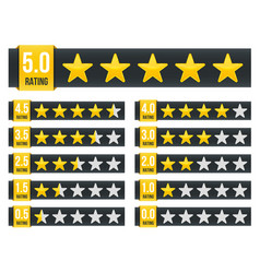 Creative of star rating vote vector
