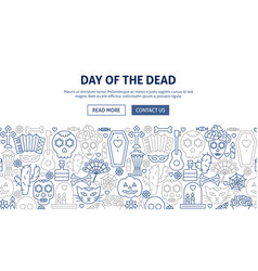 day of the dead banner design vector image