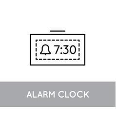 digital clock icon bell symbol on screen vector image