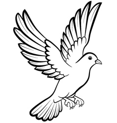 Dove birds logo for peace concept and wedding desi vector image