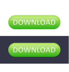 download button icon green color simple vector image