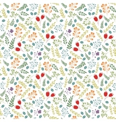 Floral colorful seamless pattern with vector image