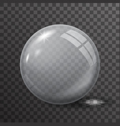 Glass ball 3d realistic transparent background vector