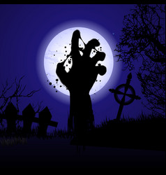 halloween background hand vector image