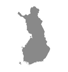 High detailed map - finland vector