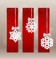 Holiday Gift cards with christmas decorations vector