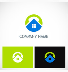 home round technology logo vector image