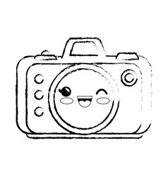 Kawaii camera ico vector
