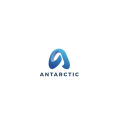 Letter a 3d blue colou aesthetic creative logo vector