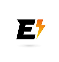 Letter E lightning logo icon design template vector ...  sc 1 st  VectorStock & Lightning Bolt u0026 Letter Vector Images (62)