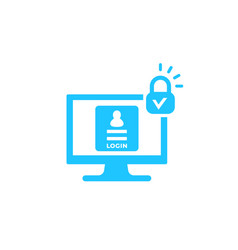 Login secure authentication icon vector