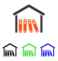 Medical library flat icon vector
