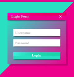 modern login form design vector image