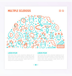 Multiple sclerosis concept in half circle vector
