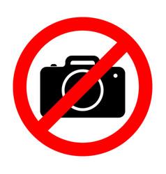 No photo camera sign vector