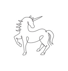 one continuous line drawing cute beauty vector image