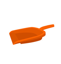 Orange dustpan tools icon vector