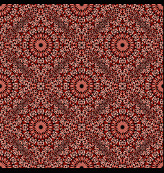Oriental geometrical abstract floral pattern vector
