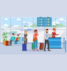 passengers in airport terminal vector image