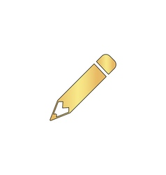 Pencil computer symbol vector image