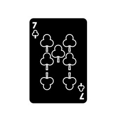 poker playing club card casino gambling icon vector image